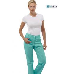 Pantalone da lavoro donna Sky colorato in 100% cotone per infermiere - fisioterapiste - dentisti  - Siggi Dr.Blue