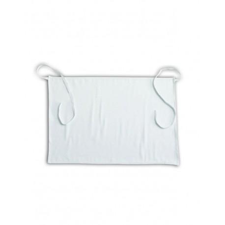 Grembiule corto in cotone bianco per settore alimentare