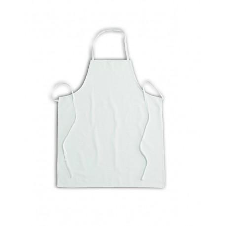 Grembiule con pettorina in cotone bianco per settore alimentare