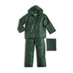 Completo da lavoro poliestere giacca e pantaloni antipioggia impermeabile