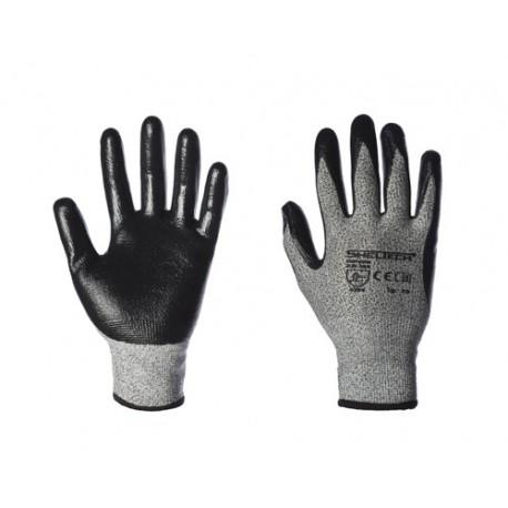 Guanto nylon/fibra sintetica palmo nitrile-Confezione da 6 paia