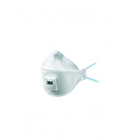 Respiratore 3M 9322 con valvola per polveri e fumi FFP2-Confezione da 10 pezzi