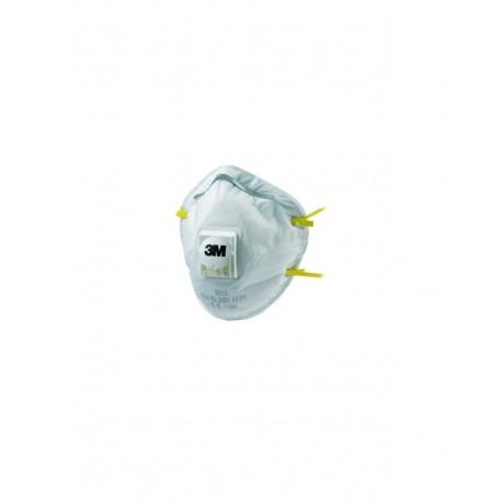 Respiratore 3M 8812 con valvola per polveri FFP1-Confezione da 10 pezzi