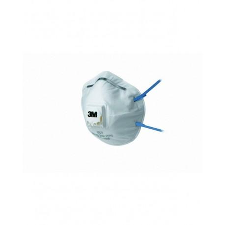 Respiratore 3M 8822 con valvola per polveri e fumi FFP2-Confezione da 10 pezzi