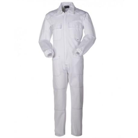 Tuta da lavoro bianca Serio Plus con tasche in cotone