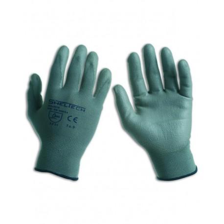 Guanto nylon-poliuretano grigio- confezione da 12 paia