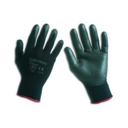 Guanto nylon-poliuretano nero- confezione da 12 paia