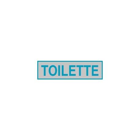 Cartello adesivo toilette