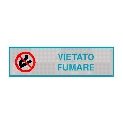 Cartello adesivo vietato fumare