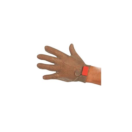 Guanto da lavoro antitaglio in acciaio inox 5 dita con gancetto magnetico per macellai