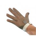 Guanto da lavoro antitaglio in acciaio inox 5 dita con cinturino per macellai