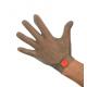 Guanto da lavoro antitaglio in acciaio inox 5 dita con gancetto inox per macellai