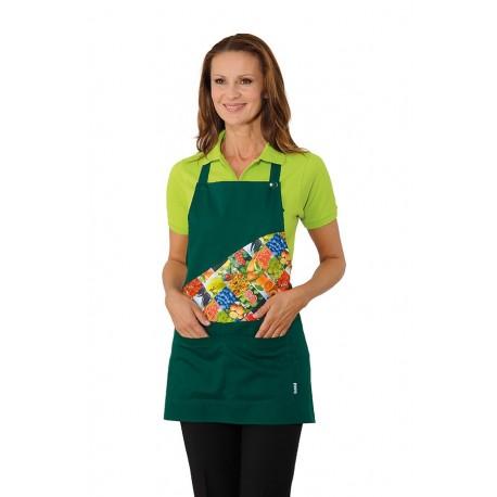 Grembiule da lavoro Lollipop Fruit unisex con pettorina per fruttivendoli, supermercati- Isacco