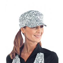 Cappello da lavoro Sam unisex 100 % cotone con visera, per bar, gelaterie, caffetterie, panifici- Isacco