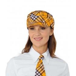 Cappello da lavoro con visiera Tartan Sam per camerieri, baristi- Isacco