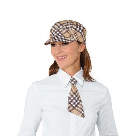 Cravatta da lavoro corta Tartan per camerieri, baristi- Isacco