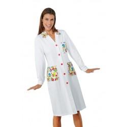 Camice da lavoro Smile maniche lunghe donna per pediatri, clown terapy, educatori- Isacco