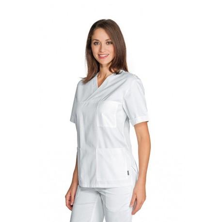 Casacca da lavoro Kobe scollo a V maniche corte con rete spalla per infermieri, OSS- Isacco