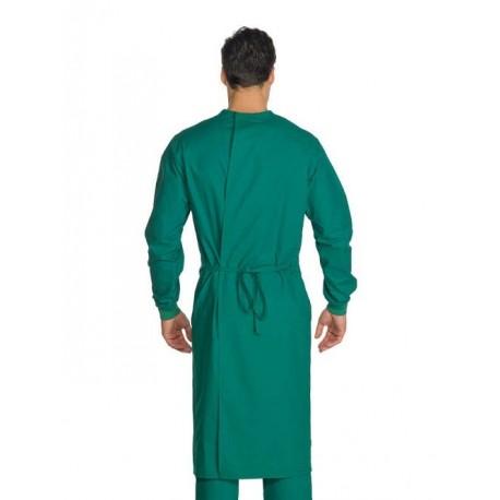 Camice da lavoro Durban chirurgia con chiusura posteriore 100% cotone per chirurghi, medici- Isacco