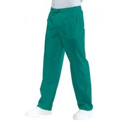 Pantalone da lavoro unisex verde con elastico in vita per chirurghi, medici- Isacco