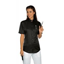 Camicia da lavoro Dublino manica corta unisex Superdry microfibra per acconciatori- Isacco
