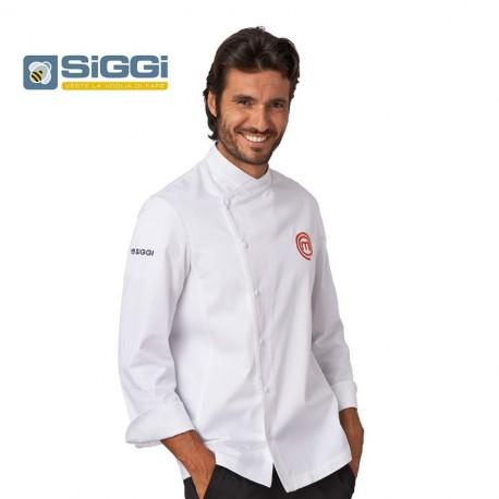 Giacca cuoco bianca in cotone MasterChef- Siggi