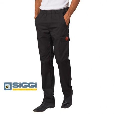 Pantaloni cuoco neri con tascone MasterChef- Siggi