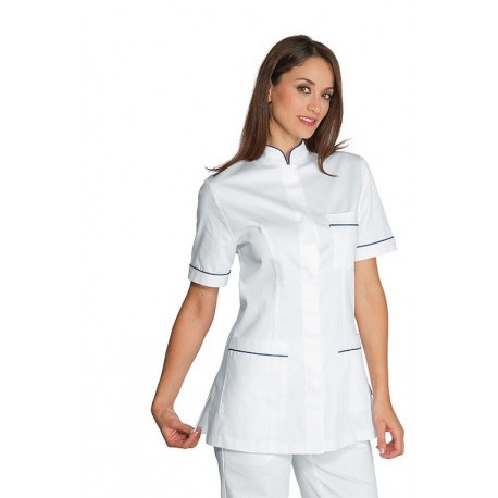 Casacca manica corta in Cotone per estetiste, fisioterapiste Panarea - Isacco