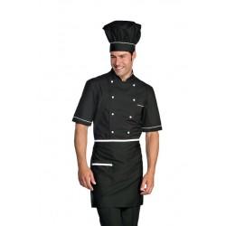 Giacca cuoco manica corta estiva con bottoni a funghetto Extra Light Alicante- Isacco