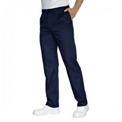 Pantalone da lavoro blu con bottone per cuochi, infermieri - Isacco