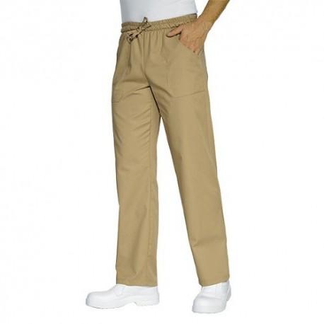 Pantalone da lavoro con elastico Coluorato per cuochi, pizzaioli - Isacco