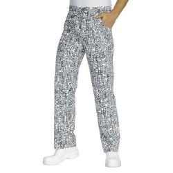 Pantalone da lavoro New York con elastico con stampa per cuochi, pizzaioli- Isacco