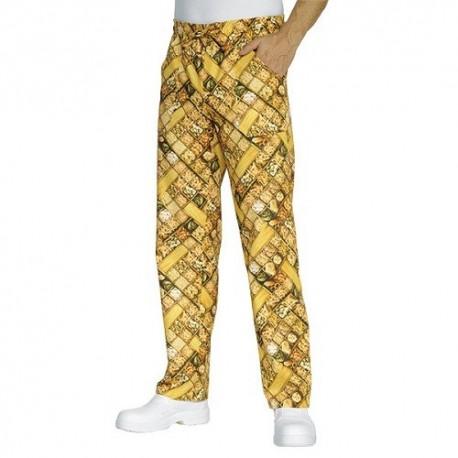 Pantalone con elastico in vita Pasta per cuochi- Isacco