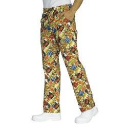 Pantalone con elastico in vita Fruit per cuochi e pasticceri - Isacco