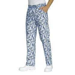 Pantalone con elastico in vita Fish per cuochi- Isacco