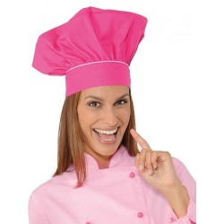 Cappello cuoco femminile fuxia/rosa per cake design- Isacco