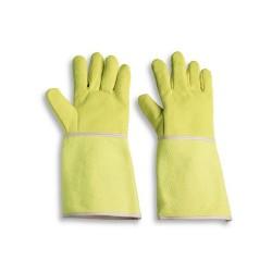 Guanto da lavoro a cinque dita anticalore con manichetta da 38 cm