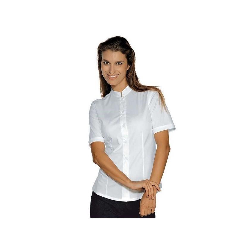 c495df735d37 Camicia da lavoro donna bianca Hollywood Stretch manica corta per cameriere  e bariste- Isacco