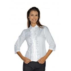 Camicia da lavoro bianca Etoile maniche 3/4 per receptionist e cameriere - Isacco
