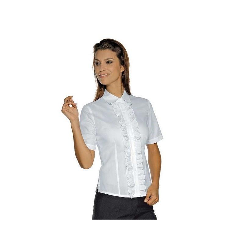 Bianca Etoile Lavoro Donna Corte Camicia Con Merletti Da Maniche Per sQdthCxrB
