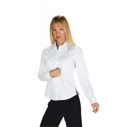 Camicia da lavoro donna bianca Tenerife Stretch maniche lunghe- Isacco