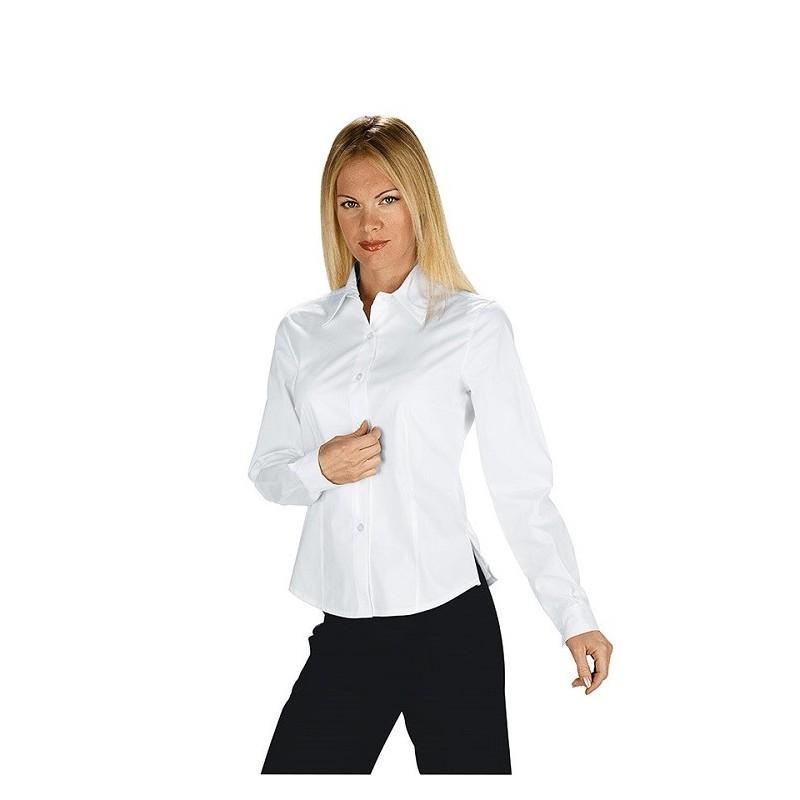 d9e7404c71 Camicia da lavoro donna bianca Tenerife Stretch maniche lunghe- Isacco