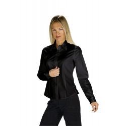 Camicia donna nera Tenerife Stretch maniche lunghe- Isacco