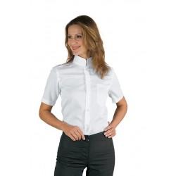 Camicia da lavoro Dublino unisex bianca manica corta collo coreana - Isacco