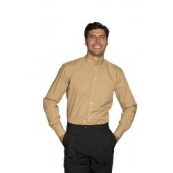 Camicia da lavoro Dublino unisex maniche lunghe collo coreana - Isacco