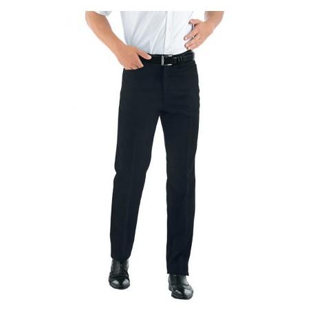 Pantalone da lavoro nero uomo Carrettera per camerieri e receptionist - Isacco
