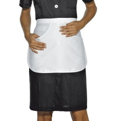 Grembiule da lavoro bianco donna corto Manila per cameriere ai piani - Isacco