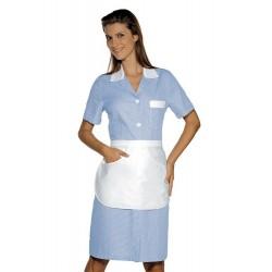 Camice da lavoro donna Positano maniche corte rigato con grembiule - Isacco