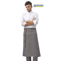 Grembiule vita cuoco Trento tortora unisex - Siggi