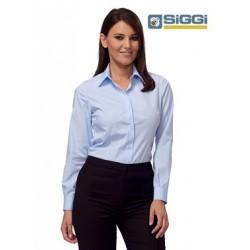 Camicia da lavoro Lisa donna maniche lunghe sfiancata per receptionist, cameriere, hostess- Siggi